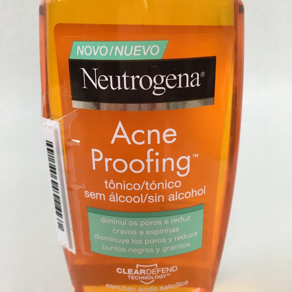 Resenha Neutrogena Acne Proofing Tônico Facial
