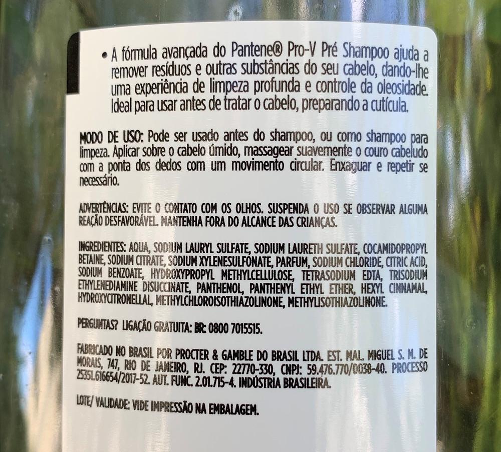 PRÉ-SHAMPOO LIMPEZA PROFUNDA PANTENE PRO-V