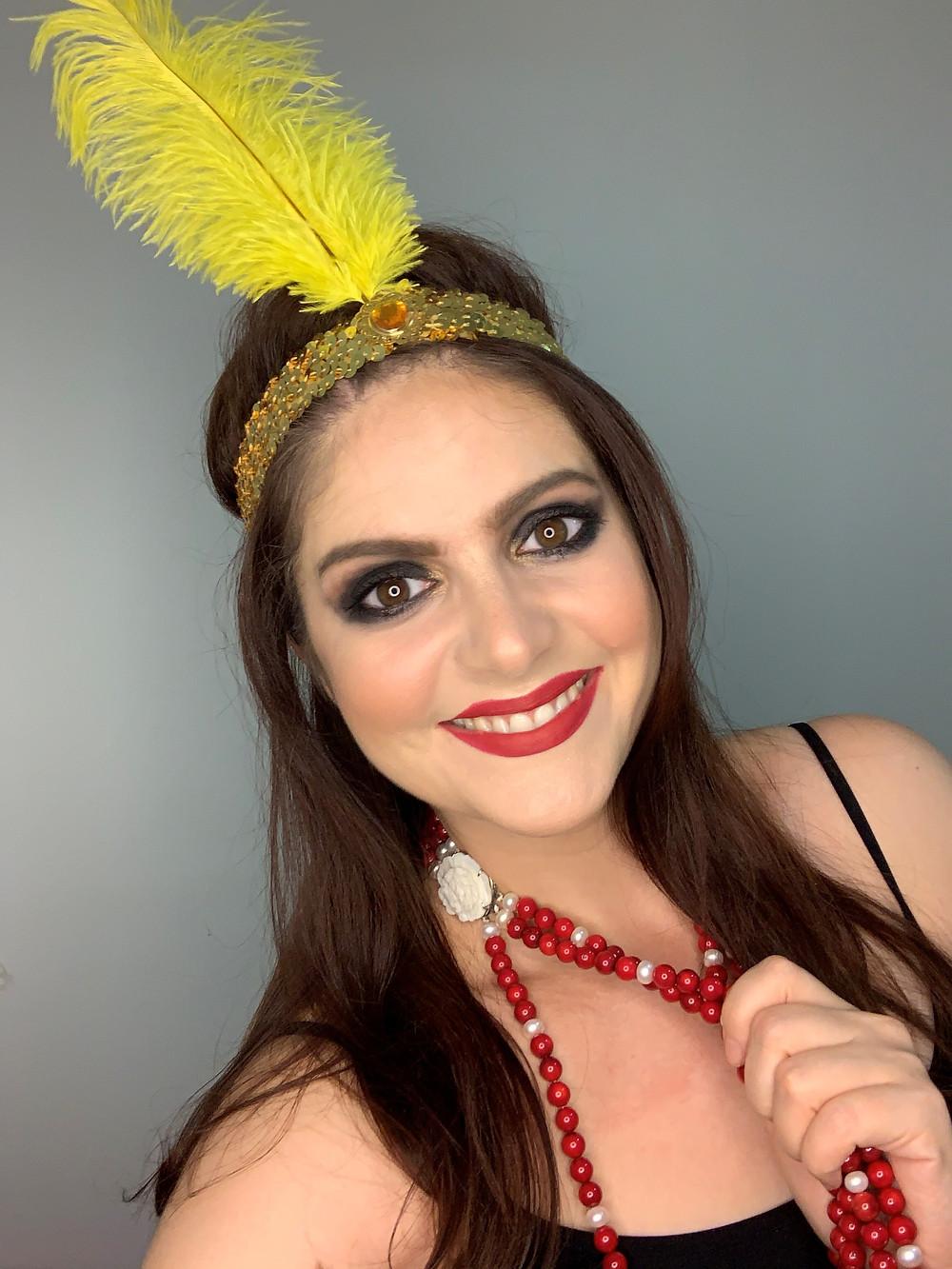 Maquiagem mulher dos anos 20