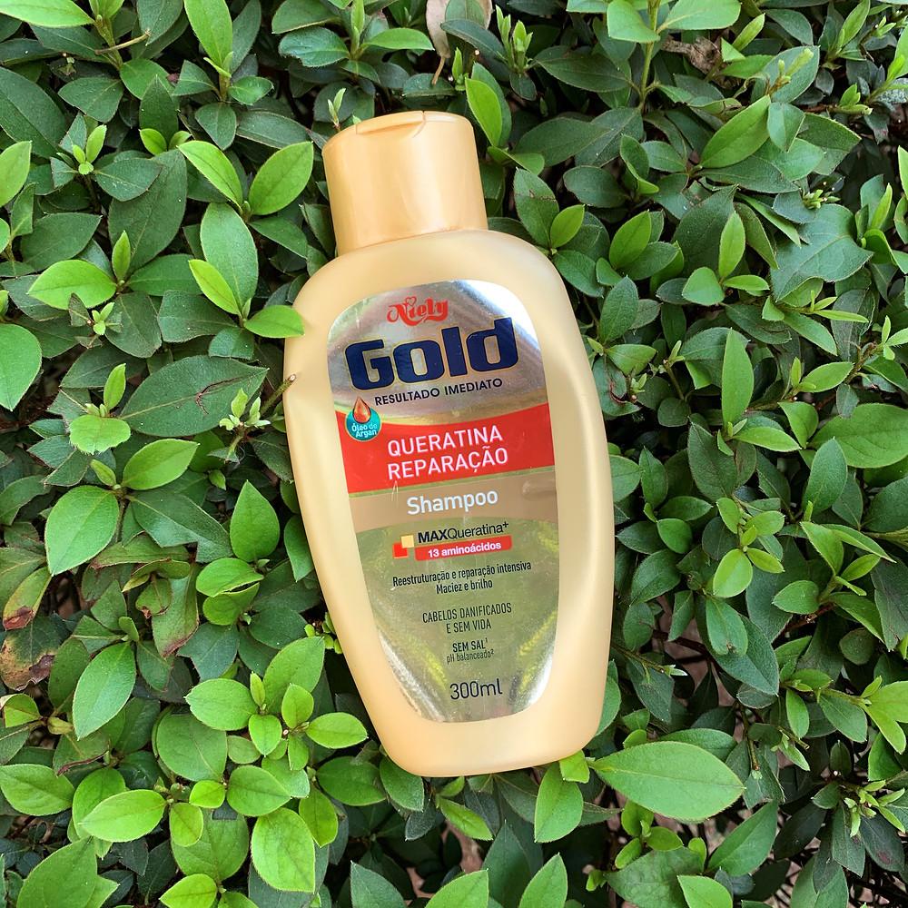 Shampoo Queratina Reparação Niely Gold