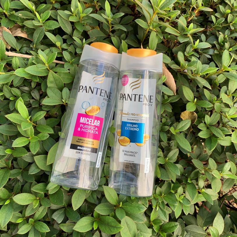 Shampoos Micelar e Brilho Extremo Pantene | Acabou
