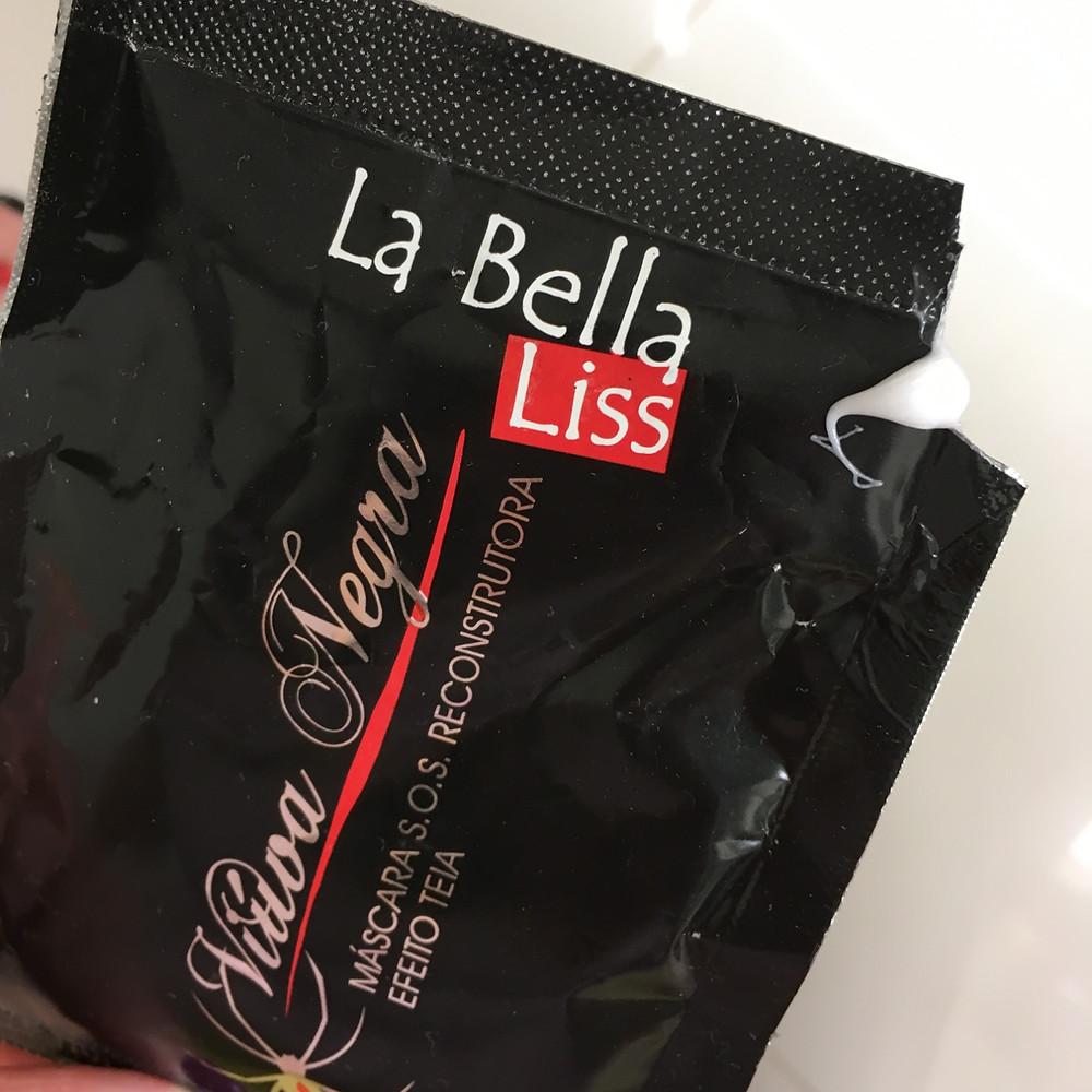 Viúva Negra La Bella Liss | Máscara S.O.S. Reconstrutora Efeito Teia embalagem