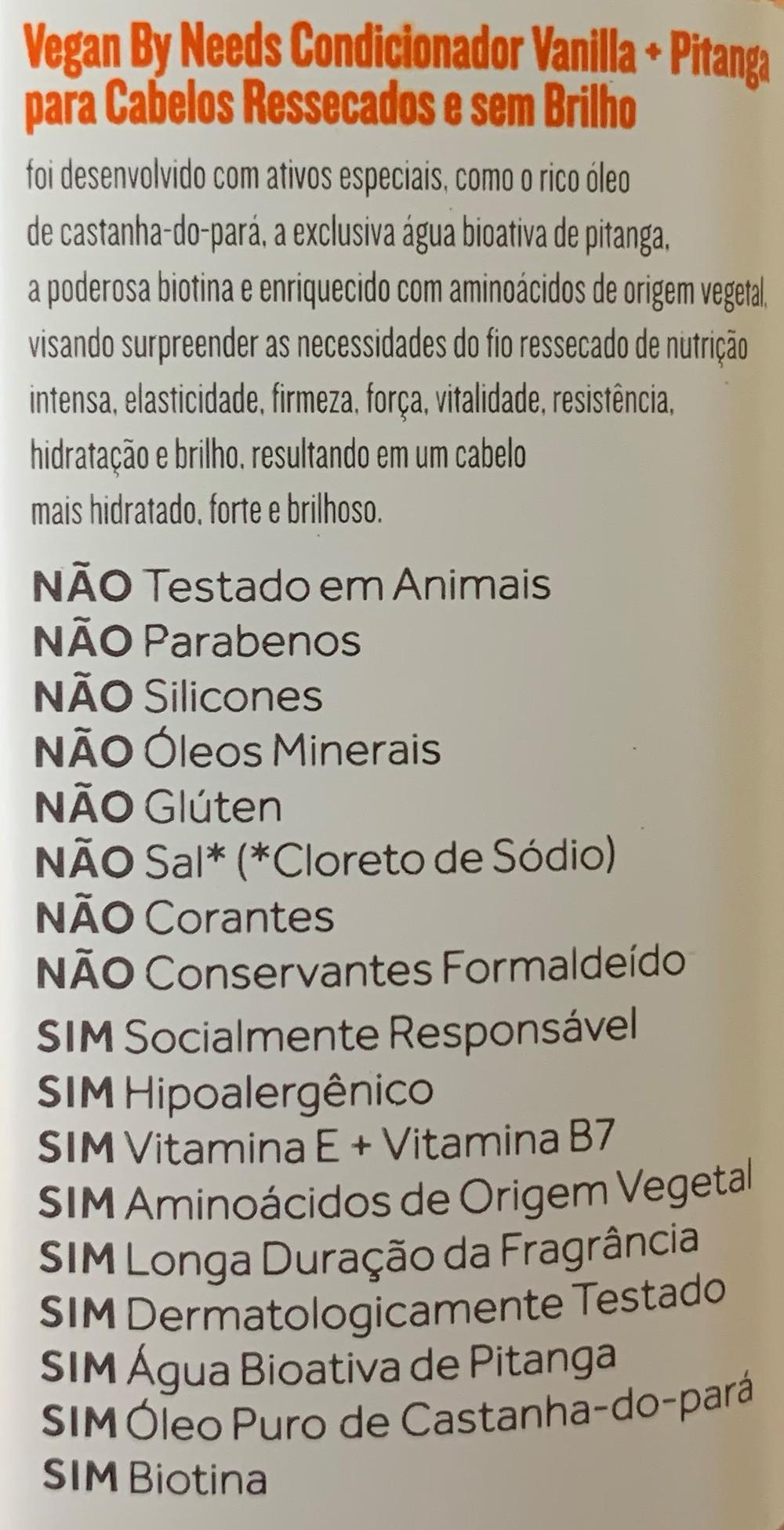 Shampoo e condicionador Vegan by Needs Vanilla + Pitanga | Testei