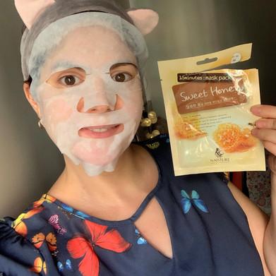 Máscara facial de tecido Sweet Honey Naisture K-Beauty