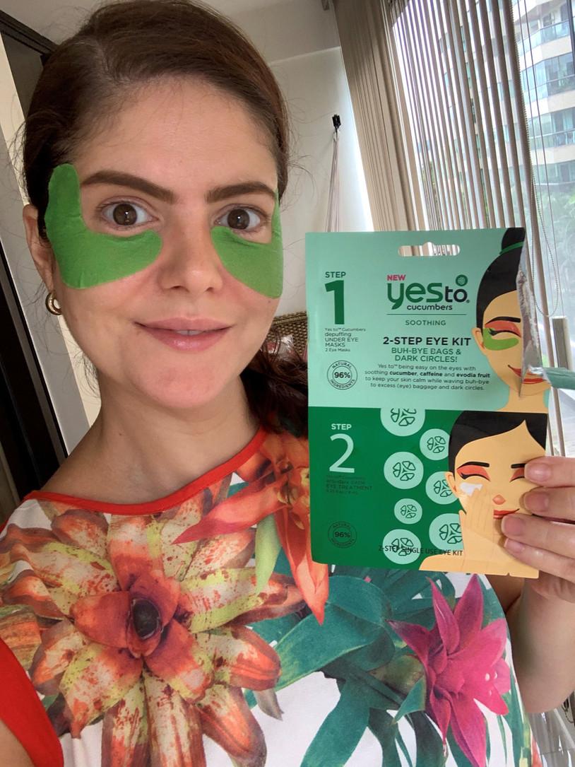 YES TO Cucumbers | Máscara para olhos 2 passos