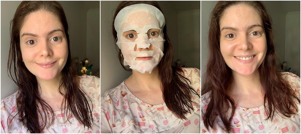 Máscara facial de tecido Brightening Arbutin Naisture K-Beauty