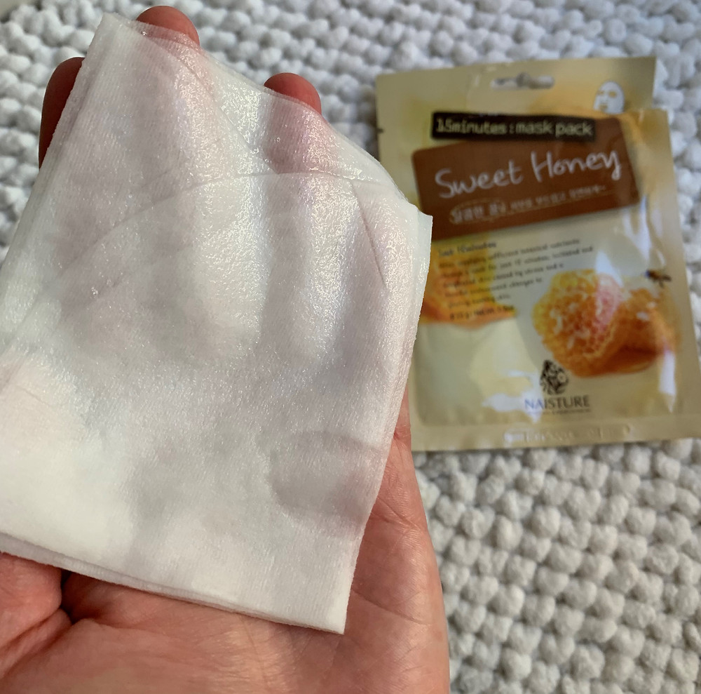 Máscara facial de tecido Sweet Honey Naisture K-Beauty