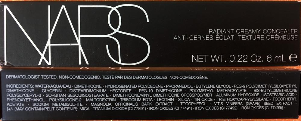 Ingredientes Light 2  Vanilla NARS Radiant Creamy Concealer