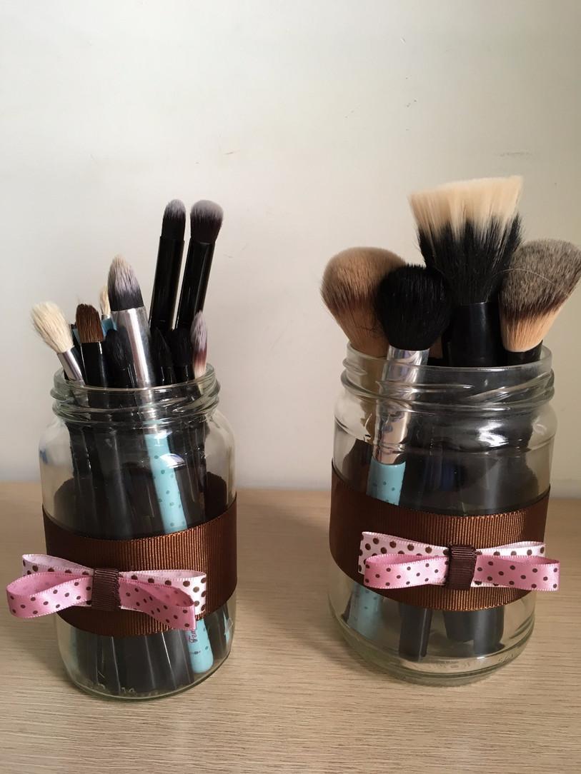 DIY | Pote de pincéis de maquiagem