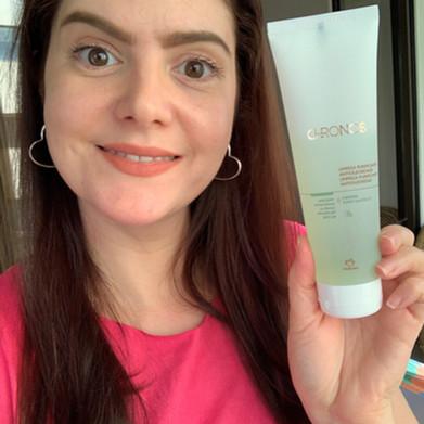 Sabonete facial de limpeza purificante antioleosidade Chronos Natura