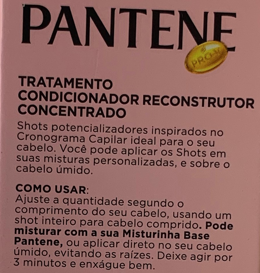 Ampola Shot Potencializador Reconstrói PANTENE