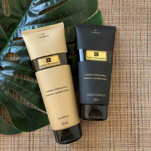 Shampoo e condicionador Velvet Premium Eudora