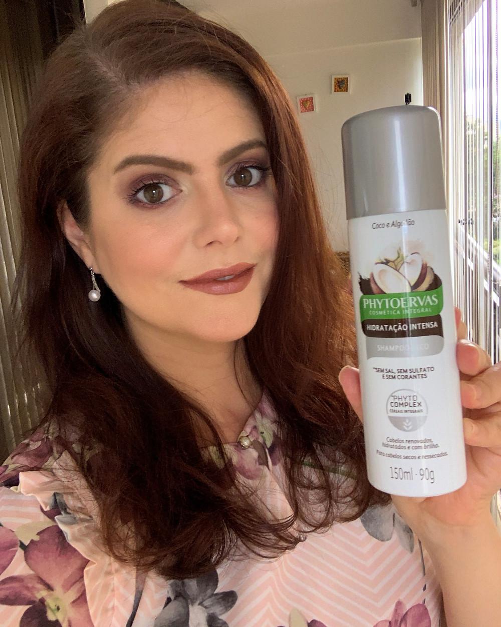 Shampoo seco hidratação Intensa PHYTOERVAS