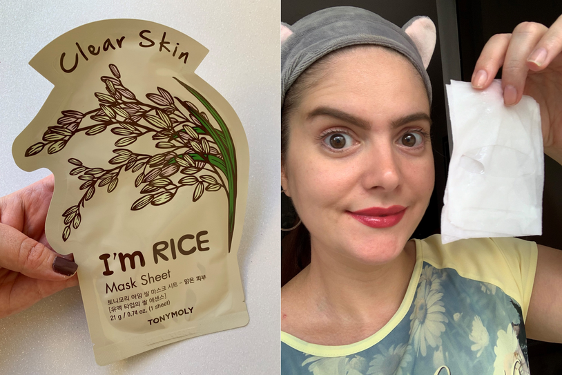 Máscara facial de tecido Tony Moly | I'm Real Rice Clear Skin
