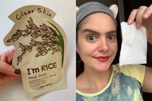 Máscara facial de tecido Tony Moly | I'm Real Rice Clear Skin