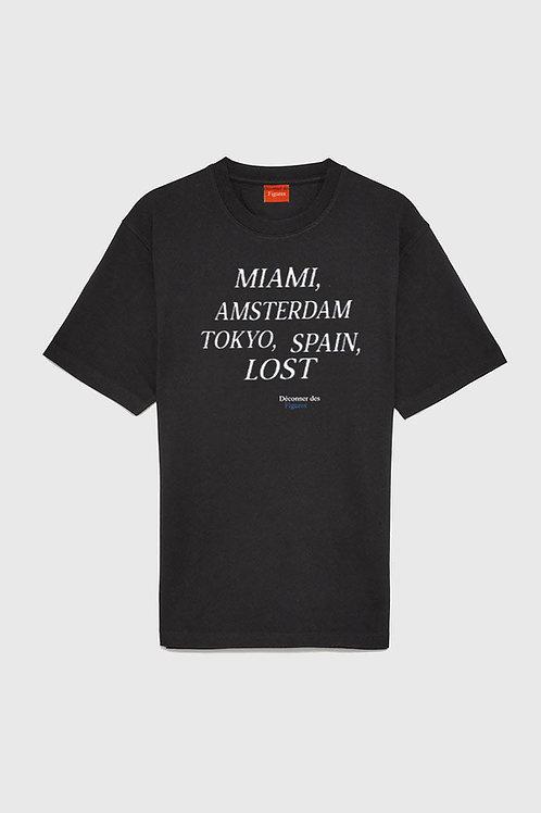 Lost/ Men BlackT-shirt