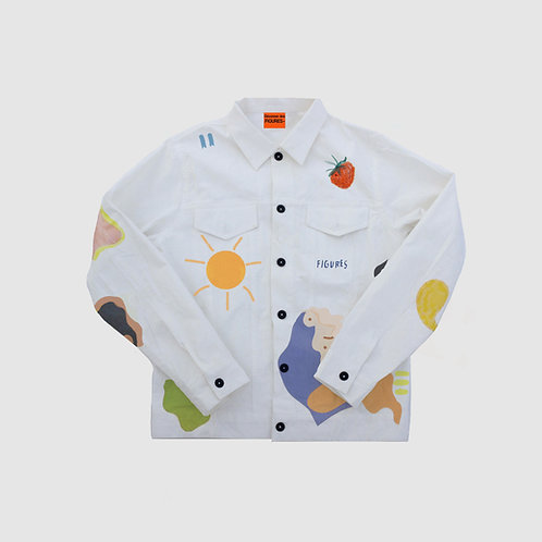 Printed Tailored Denim Jacket