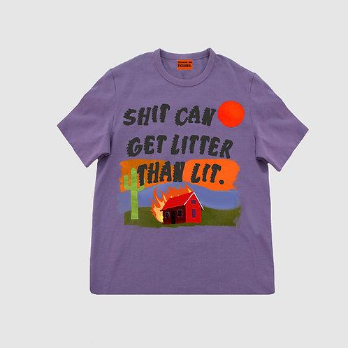 Purple Men's slogan T-shirt