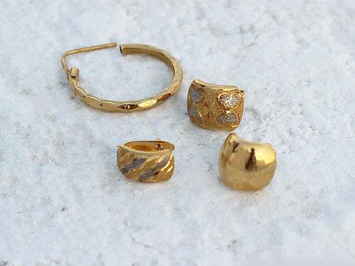 24 karat gold plated earrings