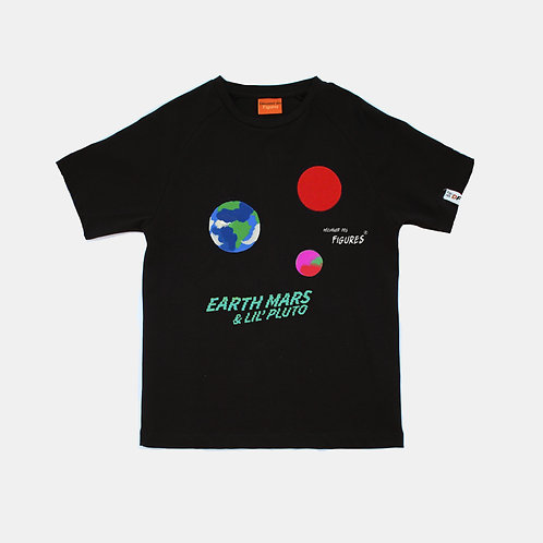 Little Pluto- Men's Black T-shirt