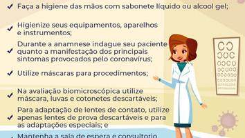CORONAVÍRUS PREVENÇÃO OPTOMETRISTA
