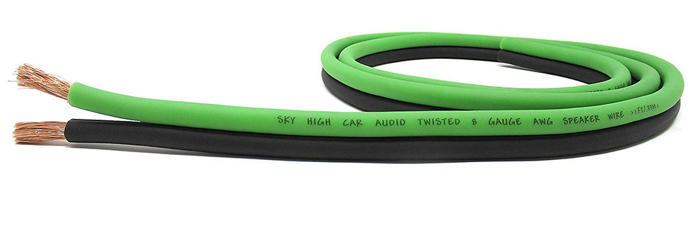 SKY HIGH CAR AUDIO 8 GAUGE SPEAKER WIRE