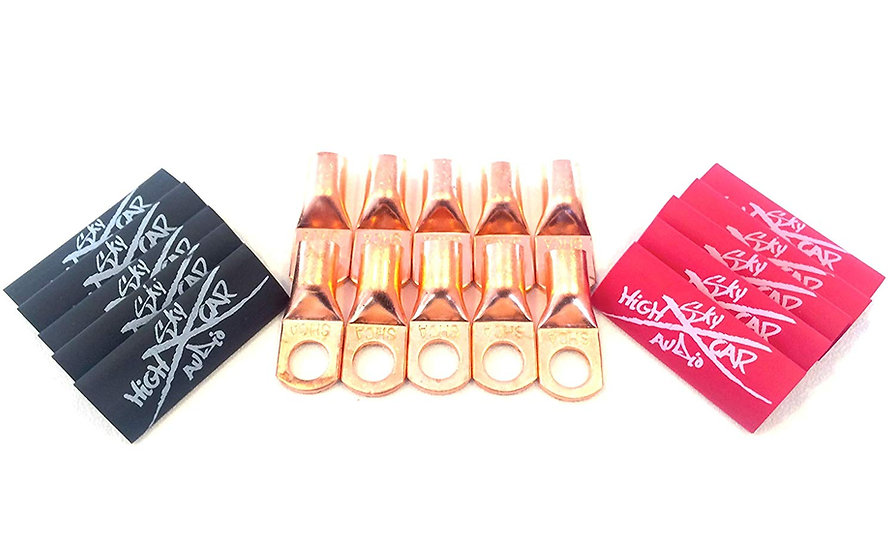 SKY HIGH CAR AUDIO 4G COPPER RING TERMINALS