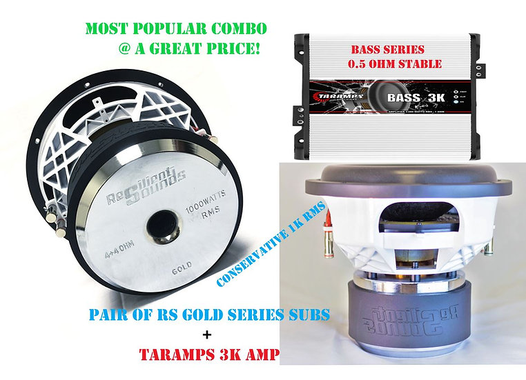2 GOLD 12'S OR 15'S+ 3K AMP