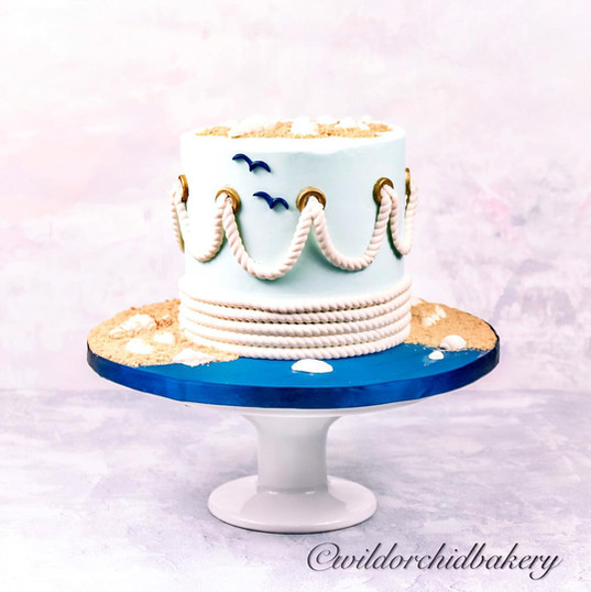 Nautical Shower Theme Cake