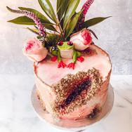 Tree Frog Geode Cake