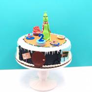 Mr. Grinch Birthday Cake