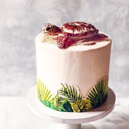 Hawai'i Theme Birthday Cake