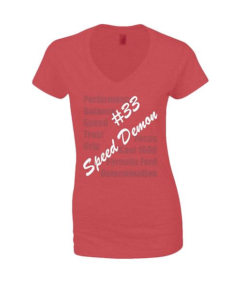 #33 Speed Demon Classic T-Shirt - Women