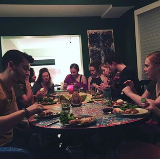 A home-cooked meal and big talks with our generous director, Kate Powers.