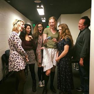 Backstage shenanigans.