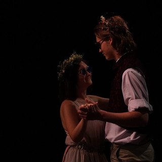 Camilla (Katelyn McLane) and Polixenes (Joel F. Wilshire) dance in disguise.