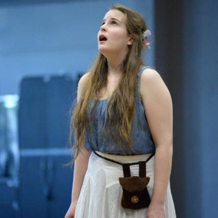 Ophelia (Eliza Convis) marvels at Hamlet's and her own unraveling.