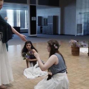 Girl 1/Cordelia invites Ophelia to her watery death.