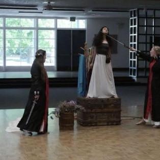 Lavinia (Ava Lalezaradeh) pleads for her honor.