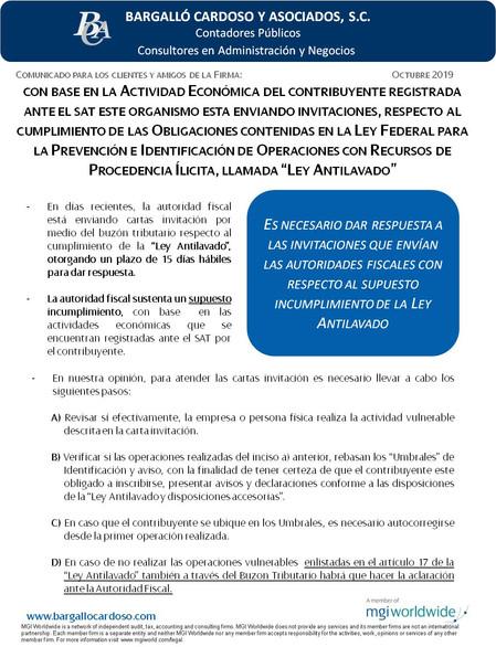 CON BASE EN LA ACTIVIDAD ECONÓMICA DEL CONTRIBUYENTE REGISTRADA ANTE EL SAT ESTE ORGANISMO ESTA ENVI