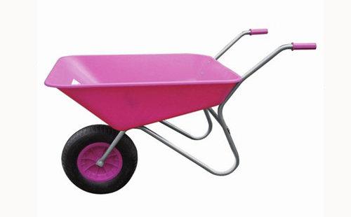 85L Pink Plastic Wheelbarrow