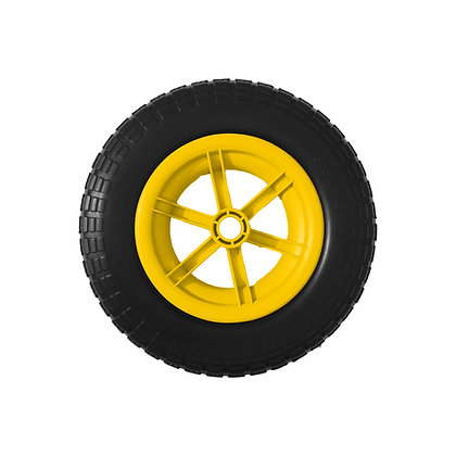 "14"" Yellow Spoked Puncture Proof (3.50 - 8)"