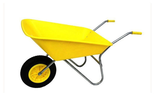 85L Yellow Plastic Wheelbarrow