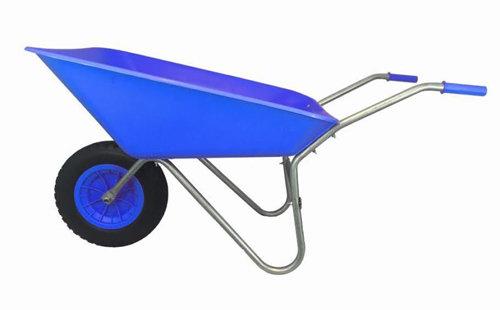 85L Blue Plastic Wheelbarrow