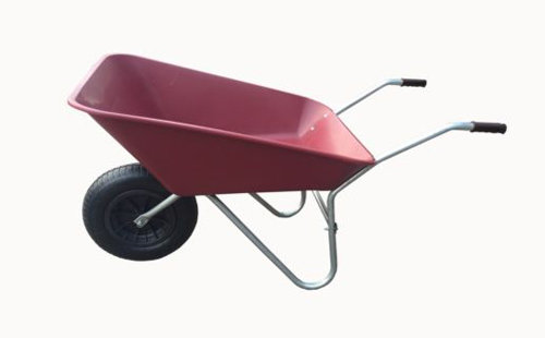85L Burgundy Plastic Wheelbarrow