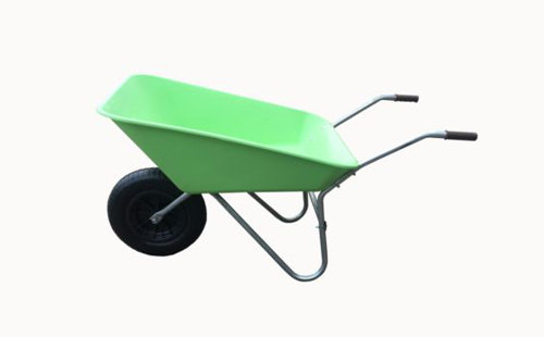 85L Lime Green Plastic Wheelbarrow