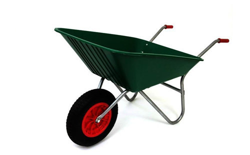85L Green Plastic Wheelbarrow