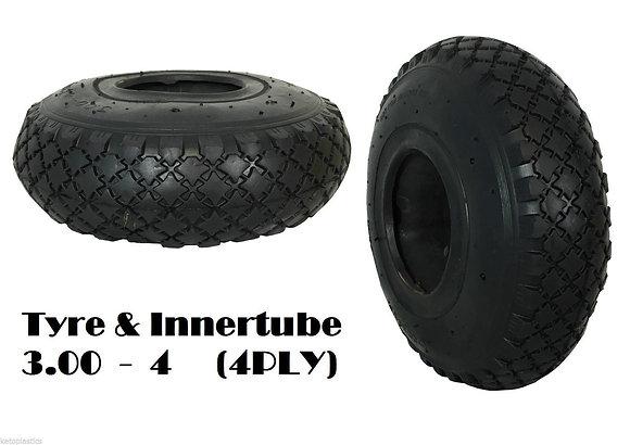 """Tyre & Innertube 3.50/3.00-4 (10"""")"""