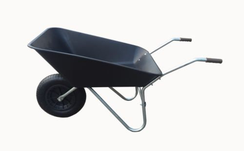 85L Black Plastic Wheelbarrow
