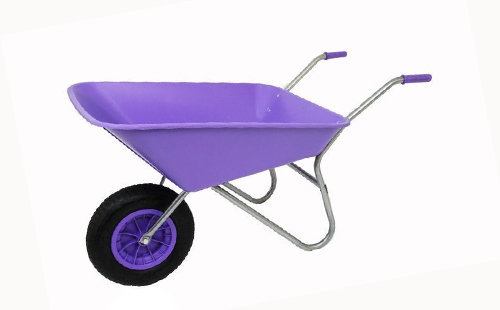 85L Purple Plastic Wheelbarrow